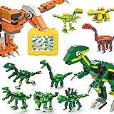 burgkidz Dinosaurios Bloques de Construcción Juguetes, 1415 Piezas de Ladrillos Creativos Clásicos con Maleta para Crear 14 Figuras de Dinosaurios, Juguetes de Construcción para Niños de 4 a 12 Años