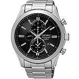 Seiko Herren Chronograph Quarz Uhr mit Edelstahl Armband SNAF67P1