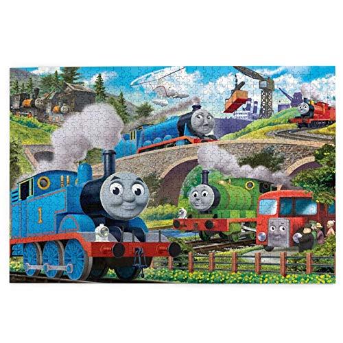Thomas And Friends 1000 piezas Rompecabezas educativo desafiante Rompecabezas familiar juego de desafío regalo para adultos y niños con exquisita caja de color