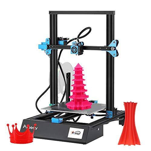 Aibecy Imprimante 3D M18 Pro Desktop Kit DIY 300 x 300 x 400 mm Taille d'impression Support de nivellement auxiliaire automatique Renouer l'impression avec écran tactile 8G TF carte 3,5 pouces