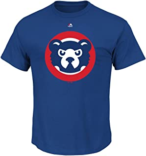 Majestic Chicago Cubs Blue Toddler Cooperstown Official Bear T-Shirt