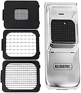 Alligator Chopper Stainless Steel Chopper with Collector, Clear/Silver, 3093