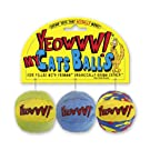 YEOWWW My Cats Balls Cat Toy, Pack of 3