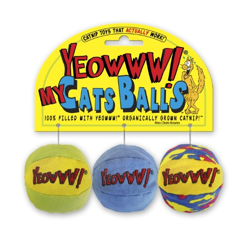 Yeowww My Cats Balls, 3 Balls per Pack