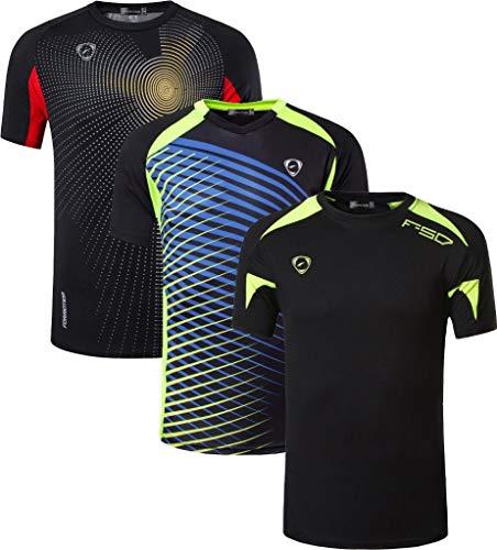 jeansian Bambini e Ragazzi Moda Casuale Sportivo Poliestere Maglietta Workout T-Shirts Sportswear LBS702_MixPackA_M