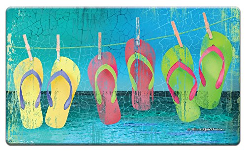 "Counter Art 'Day at the Beach' Anti Fatigue Floor Mat, 30 x 20"""