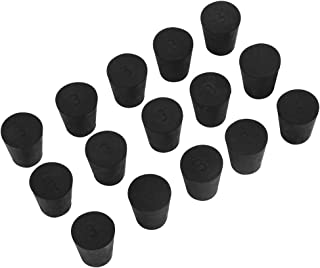 15 Pack (Same Size) Solid Rubber Stoppers - Size #3-23mm (0.90in) x 17mm (0.66in) - 26mm (1.02in) Long - Black Lab Plug