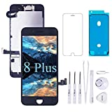 VANYUST for iPhone 8 Plus Screen Replacement LCD Display Touch Digitizer with Front Camera and Earpiece Compatible for iPhone 8 Plus Black 5.5 inch