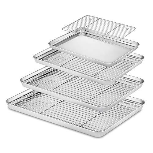 Velaze Brat- und Backblech mit Küchengitter (Backblech mit Küchengitter 8 Set BT)
