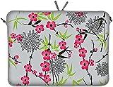 DIGITTRADE LS104-17 Sakura Designer Notebook Sleeve Housse Pour Ordinateur Portable 17,3' (43,9 cm) Large Neoprene Pochette Sacoche