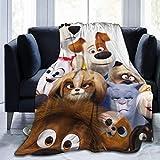 N/A The Sec-Ret Li-Fe of Pets Ul-tra Soft Flannel Fleece Throw Blanket Light Weight Blanket Room Decor 60'' x50