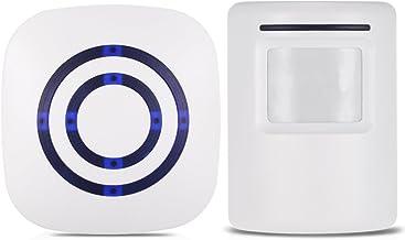 KKmoon Timbre para Puerta Inalámbrico, Sensor de Movimiento PIR, 110dB, 38 Melodías Opcionales, Volumen Ajustable, Rango d...