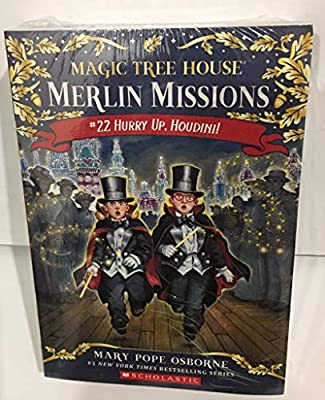 Magic Tree House Merlin Missions 5-Book set (#22 Hurry UP, Houdini, #23 High time for Heroes, #24 Soccer on Sunday, #25 Shadow of the Shark, & #26 Balto of the Blue Dawn