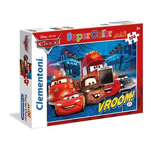 Clementoni Cars Supercolor Puzzle, 104 Pezzi, 23669