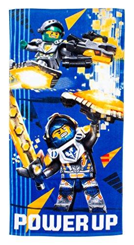 Lego Nexo Ridders 'Power' Handdoek, Katoen, Meerkleurig, 70 x 0.03 x 140 cm