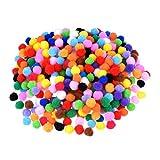 ROSENICE Pom Pom Kugeln 2000pcs 10mm Plüsch bunten Gewebe Poms Nähen auf Kleidung Hosen Taschen