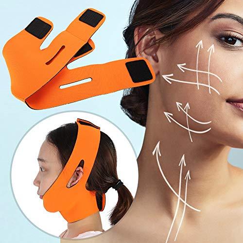 Lifting Visage Minceur Ceinture Lifting Ceinture Bandage Visage Minceur Double Réducteur De Menton Ceinture Faciale Perte De Poids, Élimine Relâchement De La Peau Lifting Raffermissant (Orange)