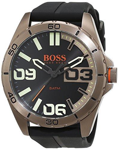 BOSS Orange Herren-Armbanduhr Berlin Analog Quarz Silikon 1513287