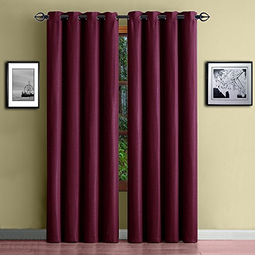 Warm Home Designs 1 Panel of Burgundy Red Standard Size 54'...