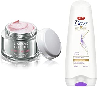 Lakmé Perfect Radiance Fairness Day Creme 50 g & Dove Daily Shine Conditioner, 180ml