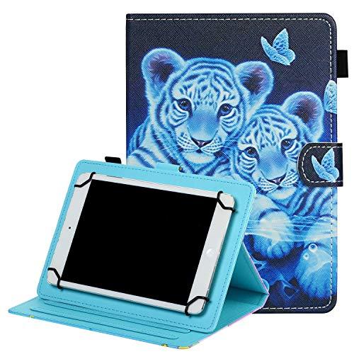 Funda universal para tablet de 9,6 a 10,5 pulgadas, funda protectora para Galaxy Tab S6 Lite 10,4 2020, Galaxy Tab A/S2/S3 9,7 / Tab A 10,1/S5e 10,5 2019/F ire HD 10 2019, Cute Tigers
