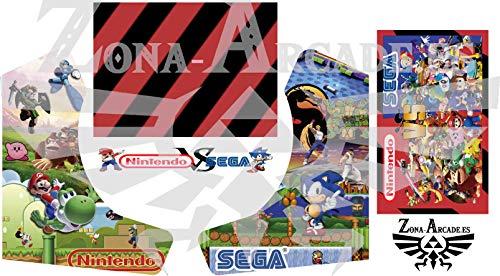 Zona Arcade Vinilo para recreativa bartop (Nintendo VS Sega)