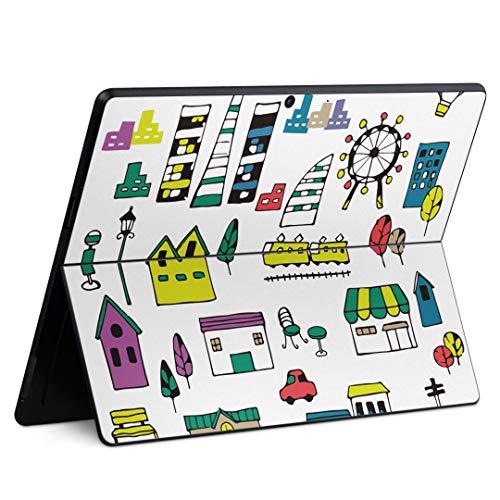 igsticker Surface Pro X 専用スキンシール サーフェス プロ エックス ノートブック ノートパソコン カバー ケース フィルム ステッカー アクセサリー 保護 014917 イラスト 東京 かわいい