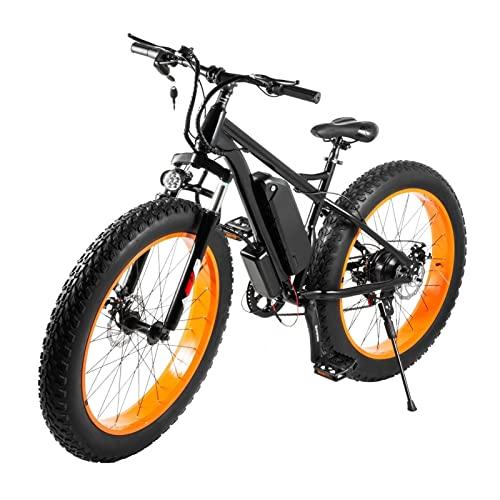Liu Yu·casa creativa Bicicleta eléctrica de 26 Pulgadas para Nieve,neumático Gordo,aleación de Aluminio,Bicicleta eléctrica,48 V,500 W,12 Ah,Ebike 26 * 4,0,neumático (Color : Orange 500W)