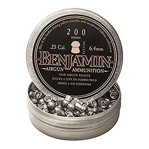 Benjamin Sheridan BD225, Domed Pellets.25 Caliber, 27.8 Grains, (Per 200)
