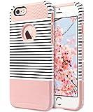 ULAK iPhone 6 Plus Coque, iPhone 6s Plus Coque Housse Étui Hybride Armour Couche 2 en TPU + PC Anti-Chocs Dur Coque pour iPhone 6 Plus/6s Plus 5.5 Pouce (Or Rose Stripes)