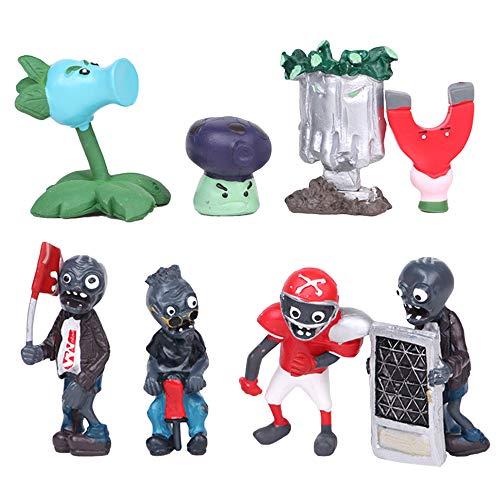 Plants vs. Zombies Estatuilla de juguete Juguetes hechos a mano de plástico figura muñeca de la decoración de regalo de cumpleaños de juguetes for niños y adultos ( Color : A01 , Size : 3-7cm )