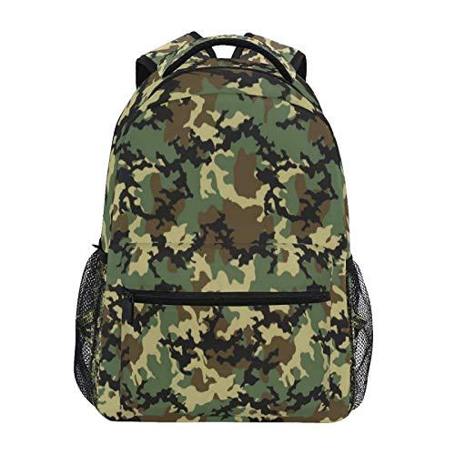OOWOW Zaino Scuola Militare Esercito Camouflage Modello Daypack Leggero Impermeabile College Laptop Zaino Scuola Elementare Borsa A Tracolla Grande Bookbag per Donne Uomini Bambini Ragazzi