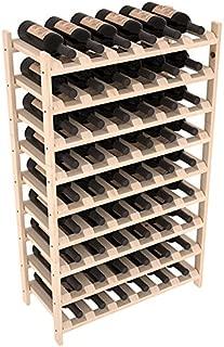 Wine Racks America Ponderosa Pine 54 Bottle Stackable. Unstained