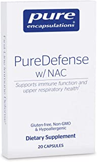 Pure Encapsulations - PureDefense with NAC - Enhances First-Line Immune Defense and Upper Respiratory Health* - Travel Blister Pack - 20 Capsules