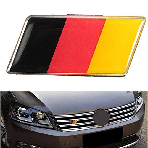 JenNiFer Aluminium Deutsch Deutschland Flagge Abzeichen Grille Emblem Auto Aufkleber Aufkleber Universal Dekoration