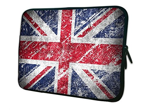 Plugged Records Charming Union Jack Pattern Zipper 13' 13.3' Ultrabook Notebook Sleeve Bag Portatil Funda Bolsas Protector For Lenovo Toshiba HP