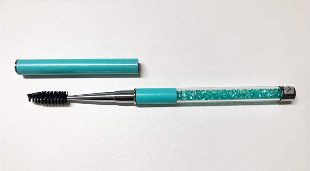 効率証人はねかけるジュエリー アイラッシュブラシ ブルー メイクブラシ スクリューブラシ マツエク まつ毛エクステ つけまつ毛 まつげ ブラシ アイラッシュ