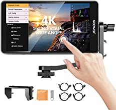 Neewer FW600 5.5-Inch Touch Screen Camera Field Monitor Full HD 1920x1080, 4K HDMI DC in/Output RGB Waveform/Vector Scope/3D-LUT,Video Peaking Focus Assist with Tilt Arm for DSLR Cameras and Gimbal