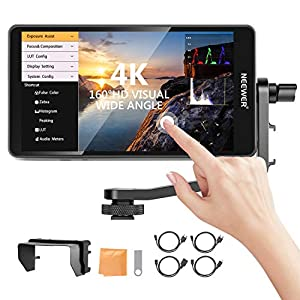 Neewer FW600 5.5-Inch Touch Screen Camera Field Monitor Full HD 1920x1080, 4K HDMI DC In/Output Waveform/Vector Scope/3D-LUT, Support Canon Sony Nikon Panasonic Fujifilm Camera (Battery Not Included)