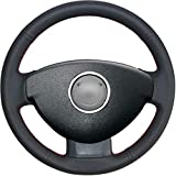 NsbsXs Für Renault, Für Dacia Duster 2010 2016 Dokker Lodgy Logan 2013 2016 Sandero 2013 2017 Black Car Lenkradabdeckung