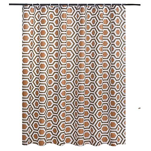 FURZON Duschvorhang-Set Schimmelresistent Waschbar Beschwert 180x180cm mit 12 Haken aus PVEA Ösenvorhang Grau Gardinen 100prozent Wasserdicht Badezimmer Zubehör (Diamond Brown)
