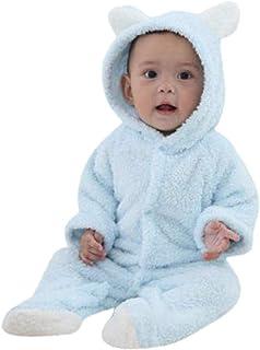 18mois-5 Ans KEERADS Pyjama Ensemble de Pyjama Dors Bien Enfant B/éb/é Combinaison Hiver Forme Animal D/éguisement Stitch Bleu
