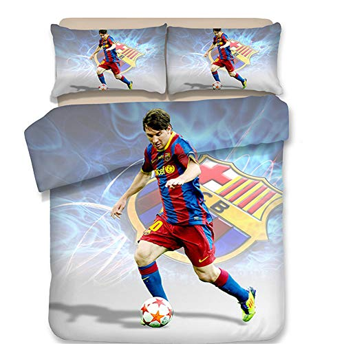 FONKIC Quilt Covered Pillowcase Double Bedding 3 Piece Suit Barcelona Soccer Club,11,US-Queen