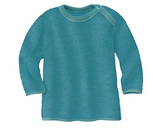 Disana Melange-Pullover für Mädchen und Jungen (Lagoon/blau, 50/56)
