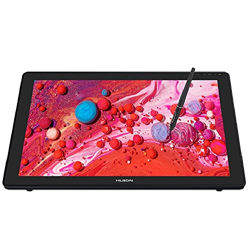HUION Kamvas 22 Plus Tableta gráfica con Pantalla, Monitor de Tableta con Pantalla Antideslumbrante Completamente Laminada, 140% sRGB, el más Nuevo Pen PW517 con Función de Inclinación, 21.5 Pulgadas