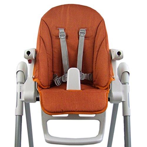 Bambiniwelt - Funda de repuesto para cojín de asiento, funda para Peg Perego Zero3 y Siesta Meliert (naranja jaspeado) XX