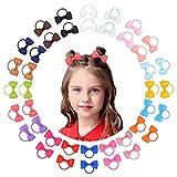40pcs bébé filles cheveux arcs élastiques à cheveux serre-tête élastique queue de cheval titulaire bande de caoutchouc corde à cheveux accessoires pour cheveux pour les tout-petits petites filles