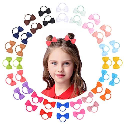 40pcs neonate capelli fiocchi cravatte per capelli fascia elastica supporto coda di cavallo elastico corde per capelli accessori per capelli per bambini piccoli bambine