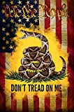 Makinit Gifts We The People Don't Tread On Me Gadsden American Flag Sublimated Double Sided Deluxe Garden Flag 12' x 18' 3ply 600 Denier 110 Knitted Polyester