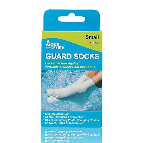 AquaSafe Verruca Guard Socks for Swimming - Small - Child Size 12.5 - Adult 2